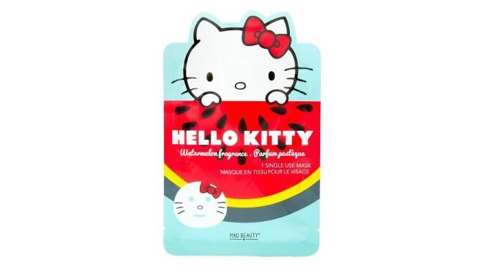 Косметика для мамы MAD Beauty Hello Kitty Увлажняющая маска лица с арбузом