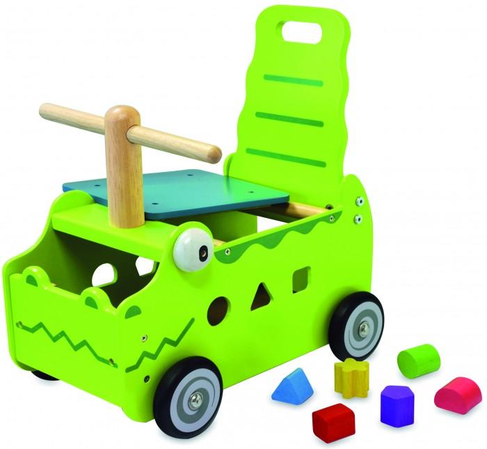 Каталка Im toy Крокодил 2 в 1Крокодил 2 в 1Каталка Im toy Крокодил (сортер и каталка) безопасен даже для самых маленьких детей, благодаря своей устойчивой конструкции с закруглёнными углами.   Особенности: Сортер поможет вашему малышу развить моторику рук и пространственное воображение. Цель игры очень простая - нужно поместить все фигуры по своим местам!  На торцевой стеночке изображена улыбающаяся мордашка крокодила Яркая игрушка обязательно приживётся в комнате Вашего ребёнка – лёгкий и компактный, он также может принимать участие в сюжетно-ролевых играх.  Материал: дерево ценных пород, произрастающих в экологически чистых районах Юго-Восточной Азии.<br>