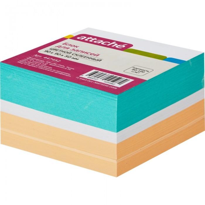 Канцелярия Attache Блок для записей на склейке цветной 9х9х5 см