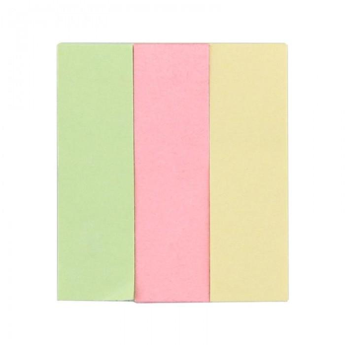 закладки клейкие staff 45х12 мм х 3 цвета 45х25 мм х 1 цвет по 25 листов код 1с Канцелярия Attache Клейкие закладки бумажные 15х50 мм 3 цвета по 40 листов