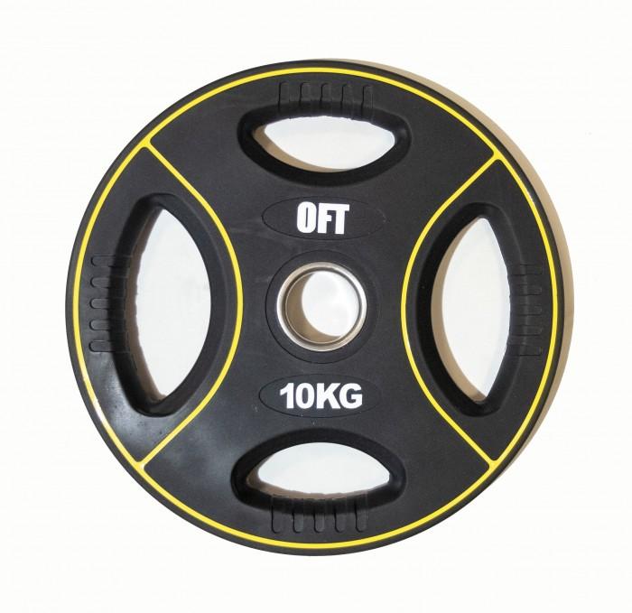 Картинка для Original FitTools Диск для штанги олимпийский полиуретановый 10 кг