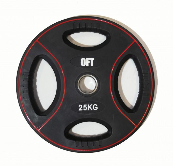 Спортивный инвентарь Original FitTools Диск для штанги олимпийский полиуретановый 25 кг