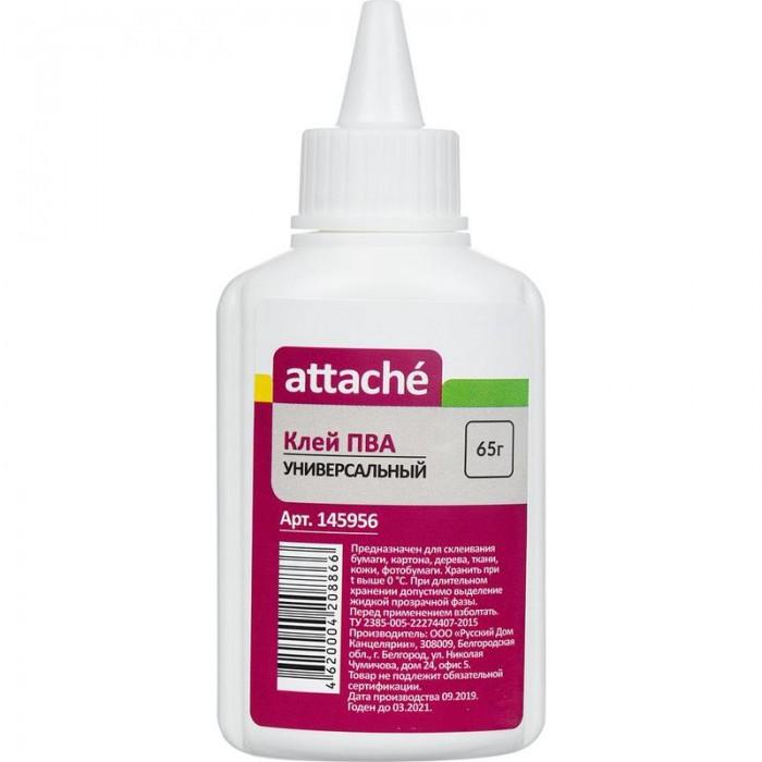 Канцелярия Attache Клей ПВА 65 г клей пва контакт 250 г