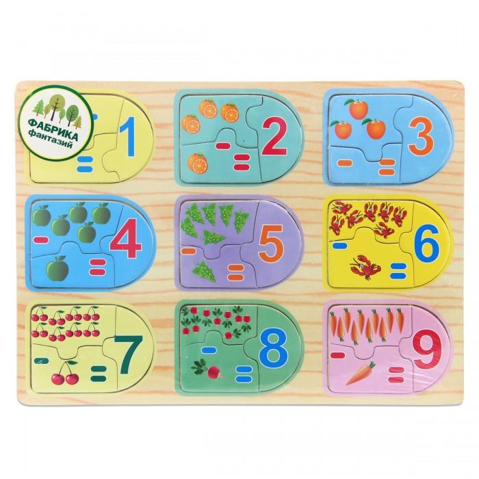 Деревянные игрушки Фабрика фантазий рамка-вкладыш Цифры деревянные игрушки фабрика фантазий сортер бабочка