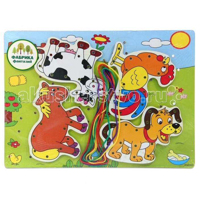 Деревянные игрушки Фабрика фантазий шнуровка Животные 41796 деревянные игрушки фабрика фантазий сортер бабочка