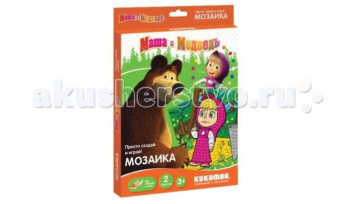 Мозаика Kukumba Мозаика Маша и медведь мозаика тридевятое царство маша и медведь мозаика с аппликациями