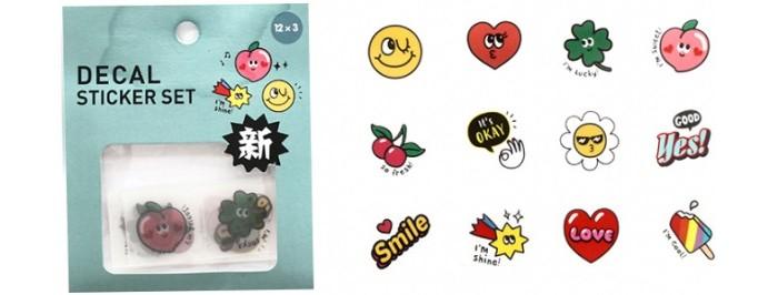 Детские наклейки Kawaii Factory Набор мини-наклеек Deco Okay