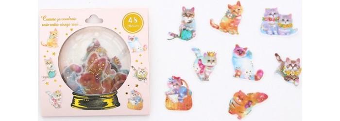 Детские наклейки Kawaii Factory Набор наклеек Magic ball Cats