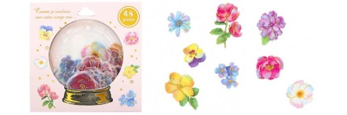 Детские наклейки Kawaii Factory Набор наклеек Magic ball Flowers