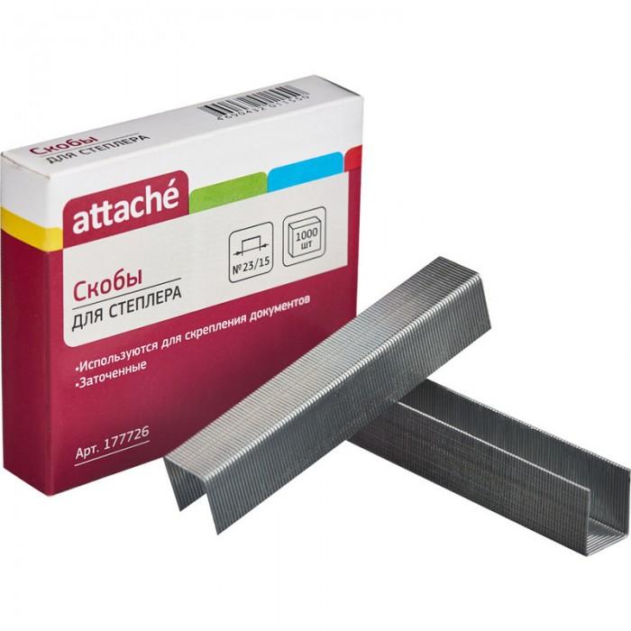 Канцелярия Attache Скобы для степлера N23/15 оцинкованные 1000 шт. скобы для степлера hammer flex 215 001 12x5x1 2 мм u образные тип 28 1000 шт