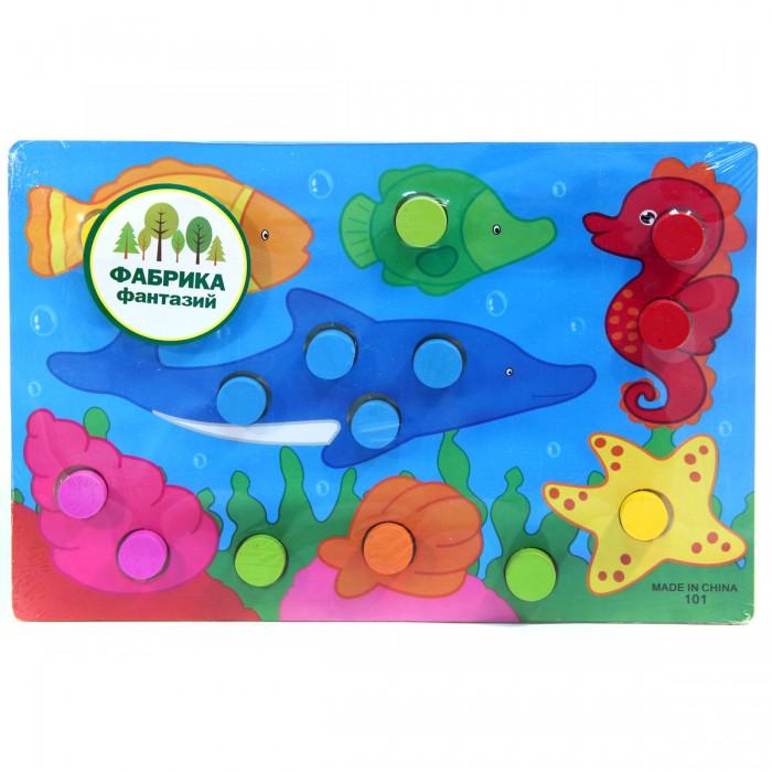 Деревянные игрушки Фабрика фантазий рамка-вкладыш Учим цвета 31089 деревянные игрушки фабрика фантазий сортер бабочка