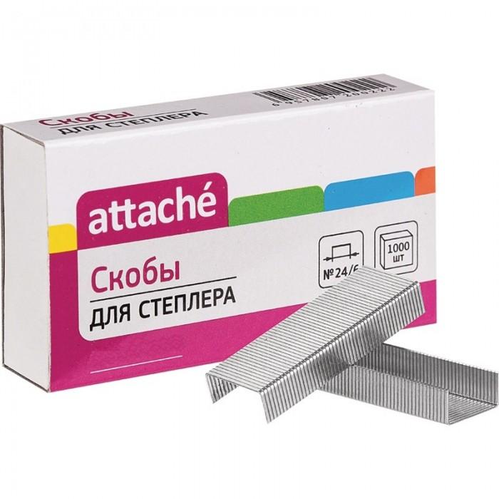 Канцелярия Attache Скобы для степлера N24/6 никелированные 1000 шт. скобы для степлера hammer flex 215 001 12x5x1 2 мм u образные тип 28 1000 шт