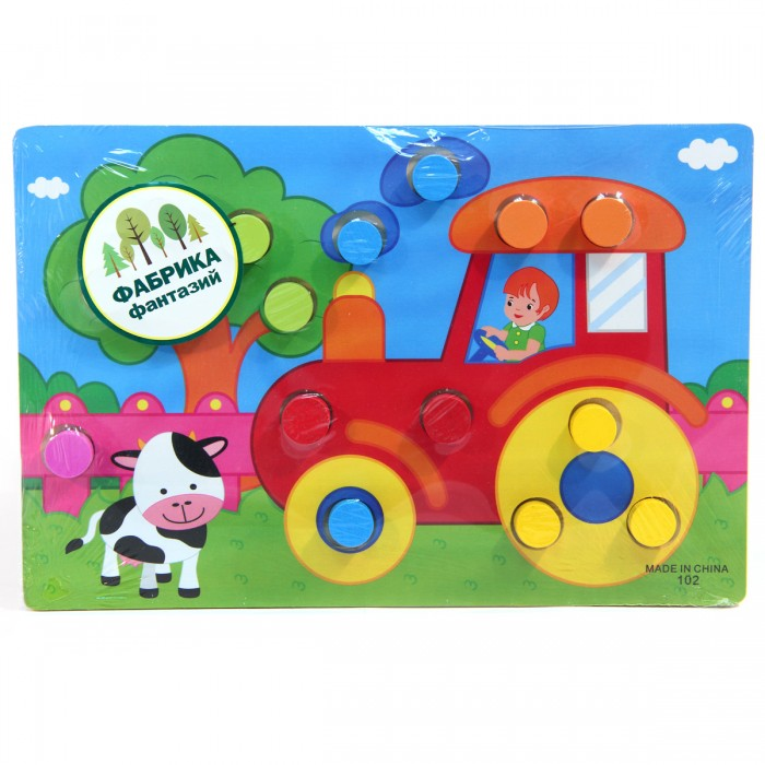 Деревянные игрушки Фабрика фантазий рамка-вкладыш Учим цвета 31090 деревянные игрушки фабрика фантазий сортер бабочка