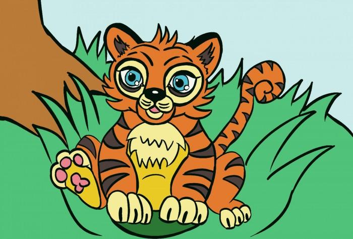 открытки по номерам с декором сказочный единорог открытки по номерам с декором bc001 Картины по номерам Color Kit Картина по номерам Тигр