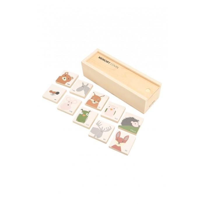 Картинка для Деревянная игрушка Kid's Concept Набор карточек в коробке для игры на запоминание Edvin