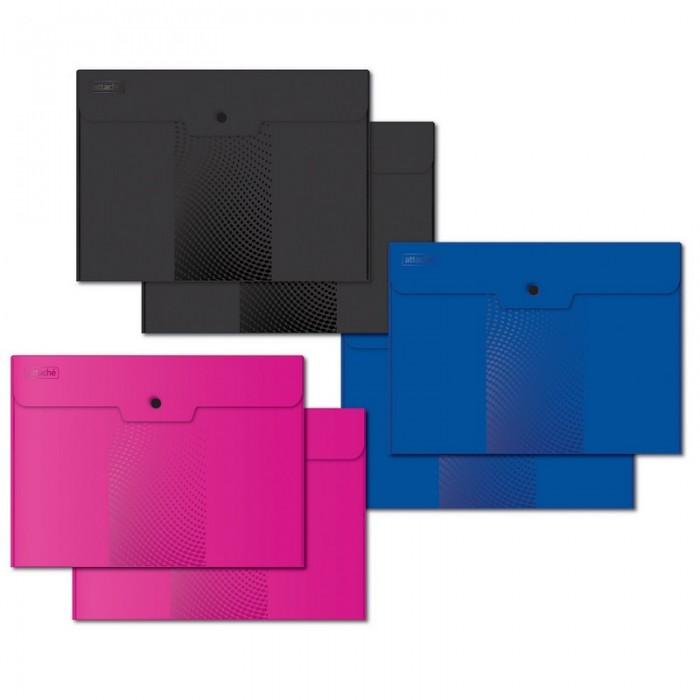 папка конверт deli bumpees ez65102 на кнопке цвет в ассортименте 1028921 формат a4 Канцелярия Attache Папка конверт на кнопке А4 Attache Digital ассорти 6 шт.