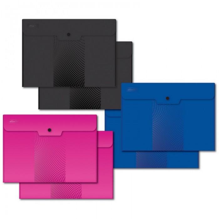 папка конверт deli bumpees ez65102 на кнопке цвет в ассортименте 1028921 формат a4 Канцелярия Attache Папка конверт на кнопке А5 ассорти 6 шт.