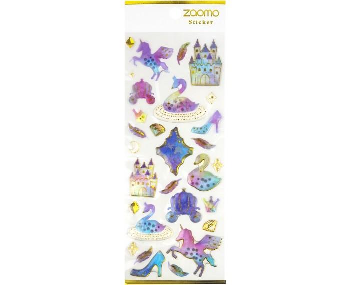 Детские наклейки Kawaii Factory Наклейки Gold unicorns С лебедями