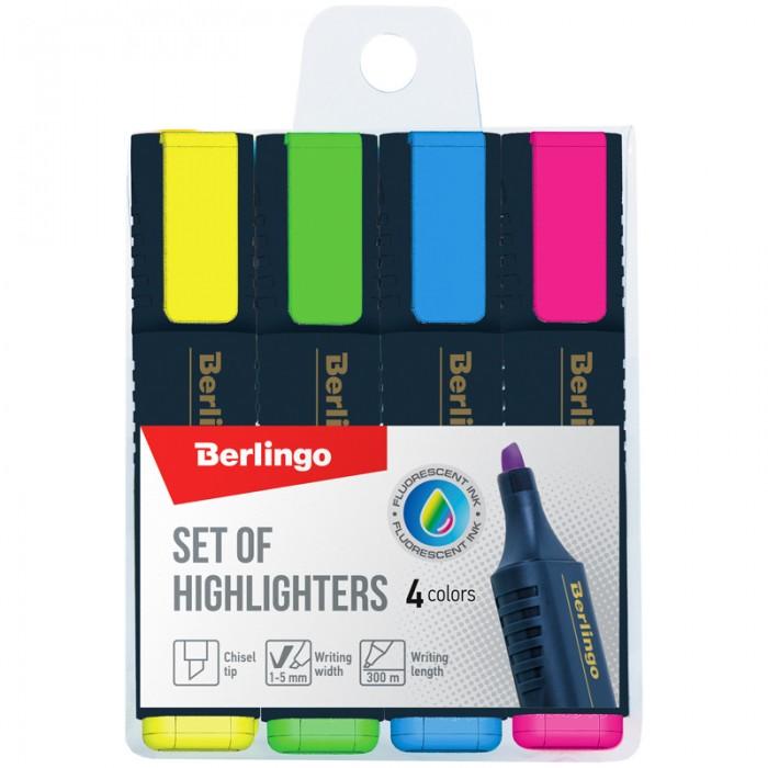 Канцелярия Berlingo Набор текстовыделителей Textline HL500 4 цвета