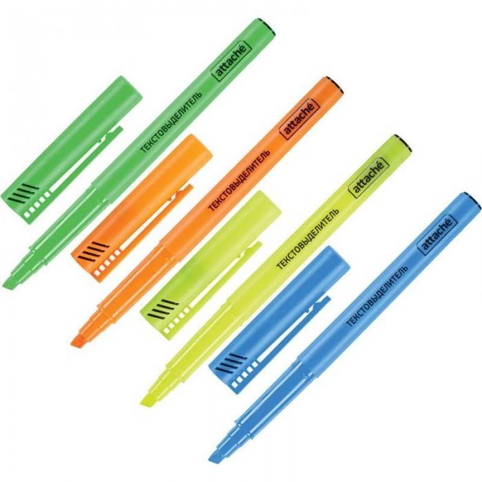 Канцелярия Attache Набор маркеров-выделителей текста 1-3 мм 4 цвета