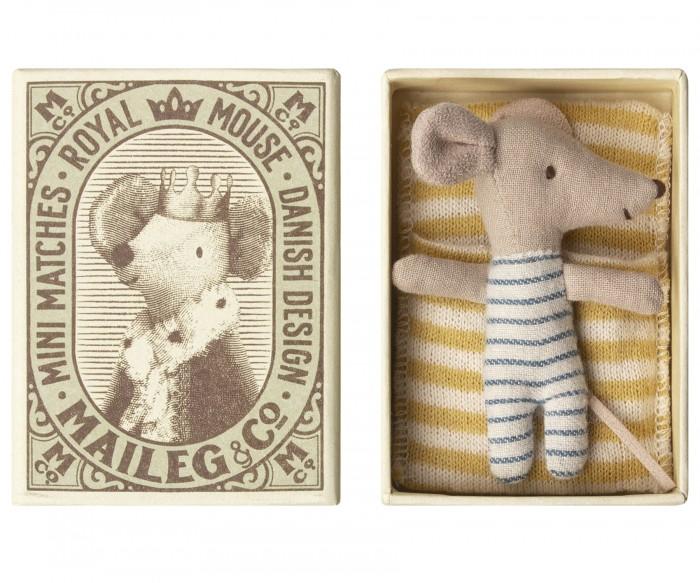 Мягкая игрушка Maileg Новорожденный мышонок Sleepy-Wakey в коробке