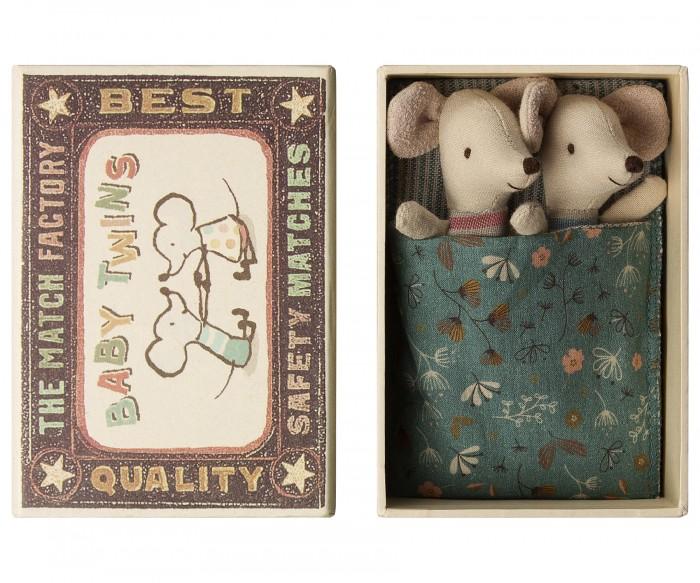 Мягкая игрушка Maileg Мышата двойняшки в коробке