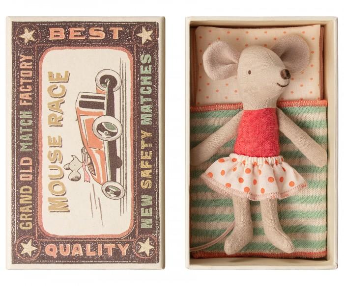 Мягкая игрушка Maileg Мышка младшая сестра в коробке