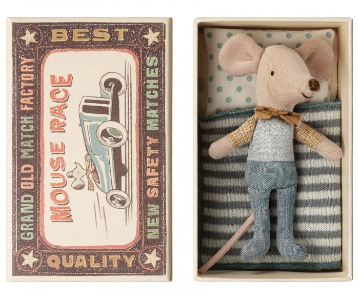 Мягкие игрушки Maileg Мышонок младший брат в коробке