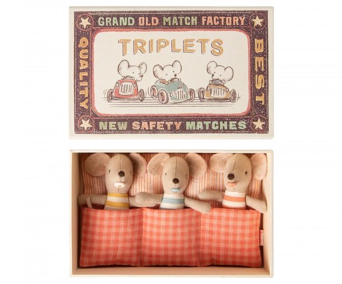 Мягкая игрушка Maileg Мышата тройняшки в коробке