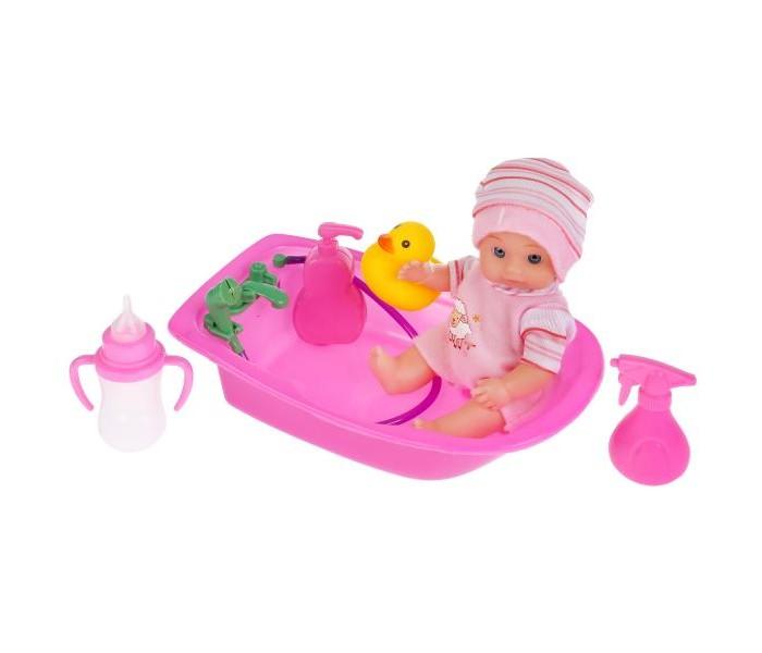 Картинка для Куклы и одежда для кукол Карапуз Пупс в ванночке 15 см