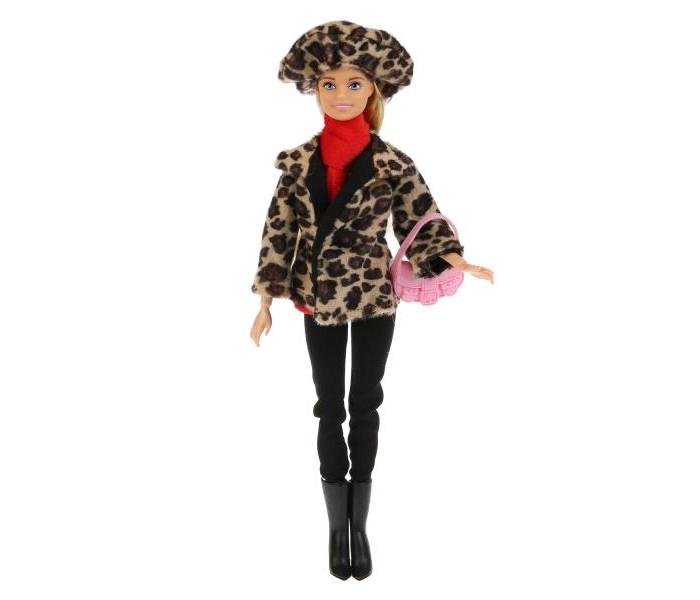 Купить Куклы и одежда для кукол, Карапуз Кукла София в леопардовом пальто и шапке 29 см