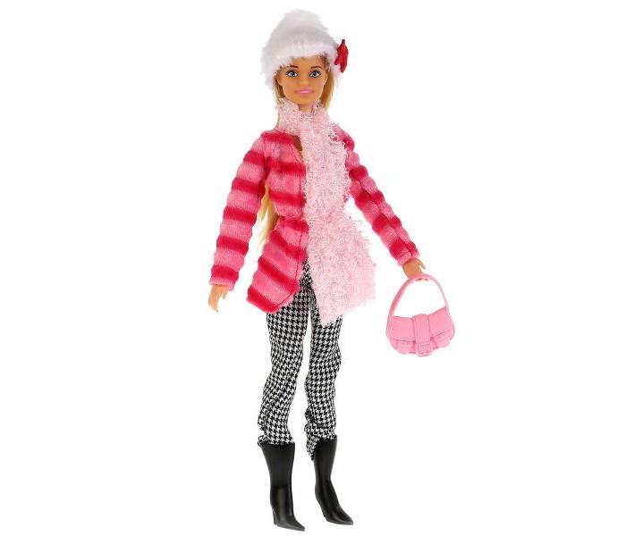 Картинка для Куклы и одежда для кукол Карапуз Кукла София в полосатой куртке и шапке 29 см