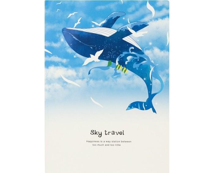 Тетради Kawaii Factory Тетрадь Sky travel Кит в облаках В5 (30 листов)