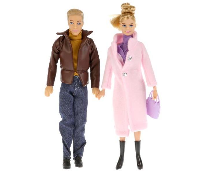 Куклы и одежда для кукол Карапуз Набор кукол София с семьей в осенней одежде 29 см