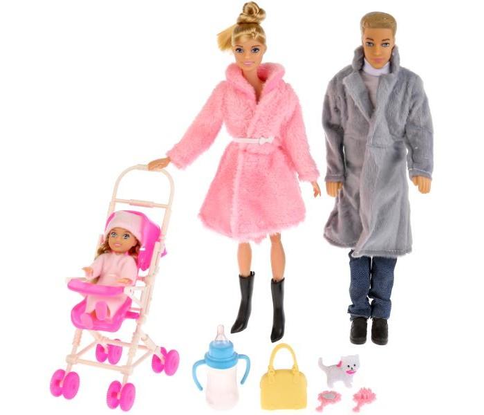 Куклы и одежда для кукол Карапуз Набор кукол София с семьей в зимней одежде 29 см