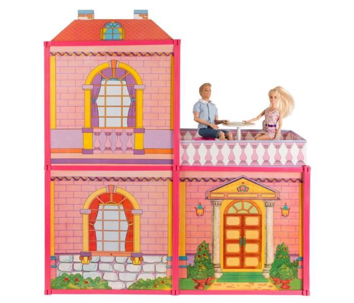 Кукольные домики и мебель Карапуз Дом для кукол с мебелью 29 см