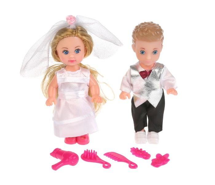 Купить Куклы и одежда для кукол, Карапуз Набор кукол Машенька и Сашенька жених и невеста 12 см
