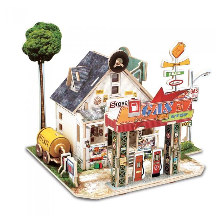Картинка для Rezark Сборная модель Домики Америки Автозаправочная станция