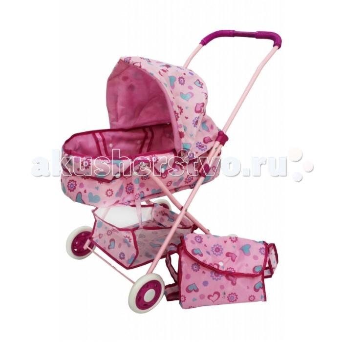 Коляска для куклы Shantou Gepai люлька с корзиной и сумкой