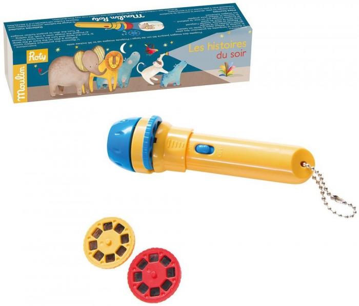 Развивающие игрушки Moulin Roty Фонарик - проектор с историями развивающие игрушки moulin roty гелевый калейдоскоп птички