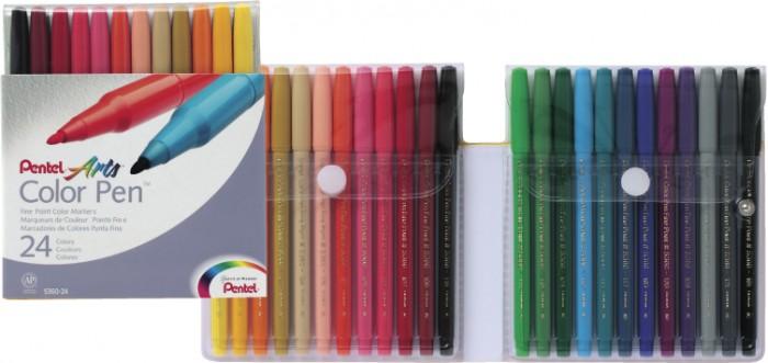 Фломастеры Pentel Color Pen 24 цвета