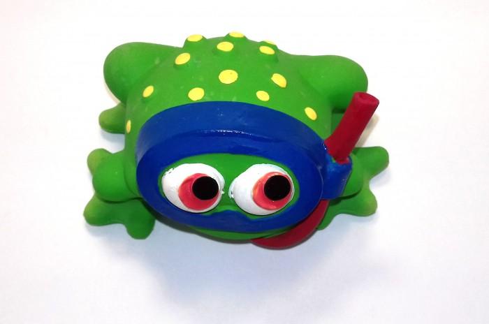 Игрушки для ванны Lanco Латексная игрушка Лягушка в маске с трубкой 1080 игрушки для ванны lanco латексная игрушка жираф мальчик 1207