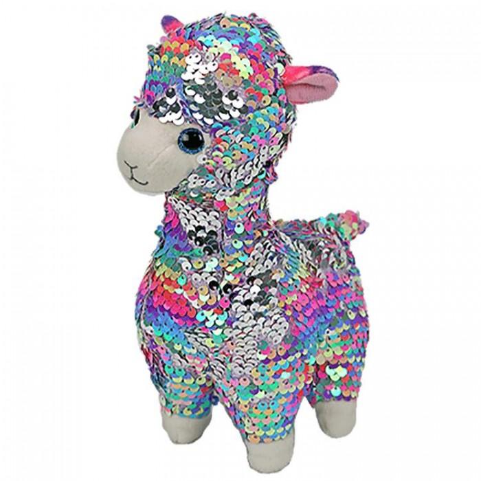 Купить Мягкие игрушки, Мягкая игрушка TY Лола лама с пайетками 25 см