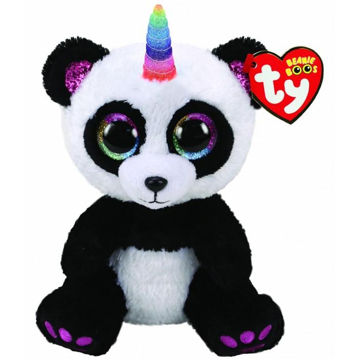Купить Мягкие игрушки, Мягкая игрушка TY Панда с рогом 15 см