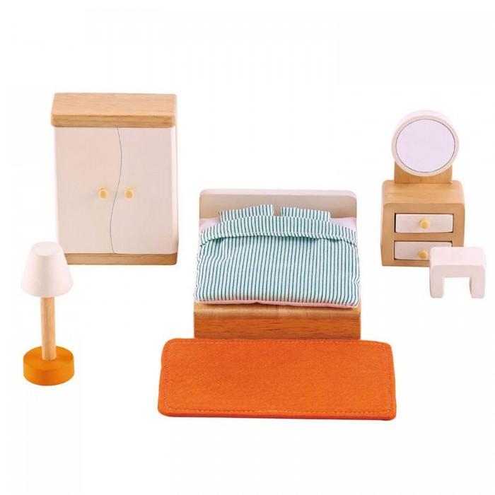 Кукольные домики и мебель Hape Мебель для домика Спальня кукольные домики и мебель hape мебель для столовой