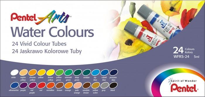 Краски Pentel Акварель Water Colours 24 цвета недорого