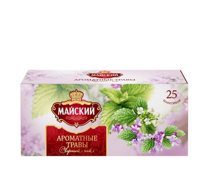 Чай Майский Чай черный Ароматные Травы 25 пак. майский чайная матрешка синяя черный листовой чай 30 г