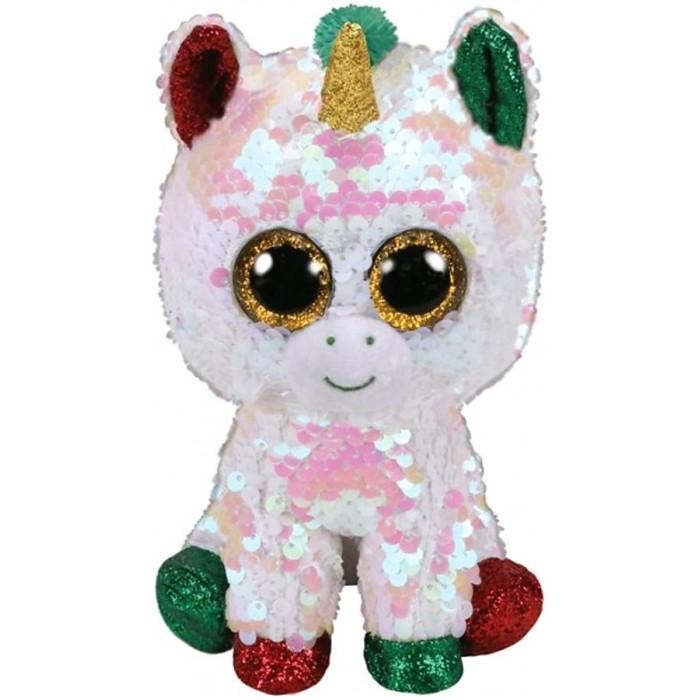 Купить Мягкие игрушки, Мягкая игрушка TY Единорог Фантазия с пайетками 25 см