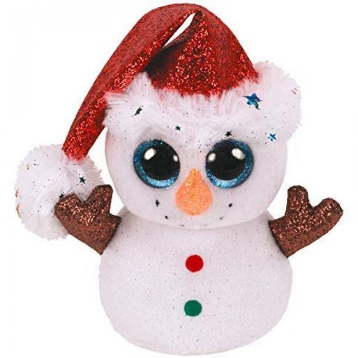 Купить Мягкие игрушки, Мягкая игрушка TY Снеговик Флурри 15 см