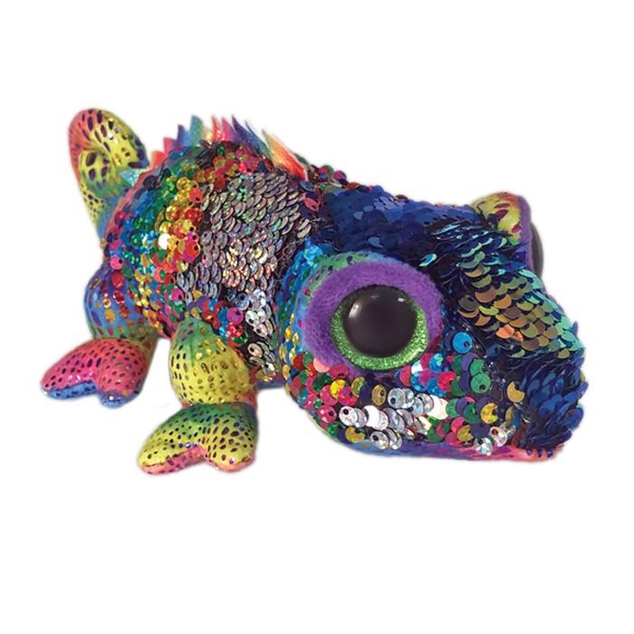Купить Мягкие игрушки, Мягкая игрушка TY Хамелеон с пайетками 15 см